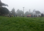 Boot Camp begins on a misty morning