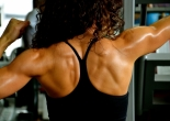 elite athlete training - female body builder