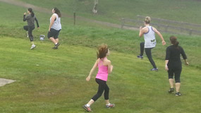 Boot Camp running drills action