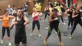 Fitness (Cardio) Boxing class combination drills