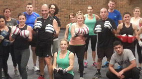 Fitness Boxing class group photo time