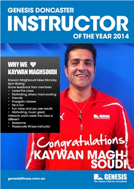 Fitness Instructor of the Year 2014 poster